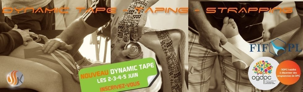 Dynamic tape-taping-strapping